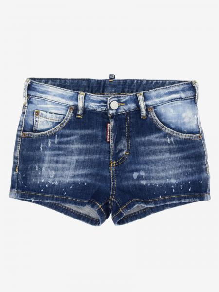 Pantaloncino di jeans Dsquared2 Junior a 5 tasche