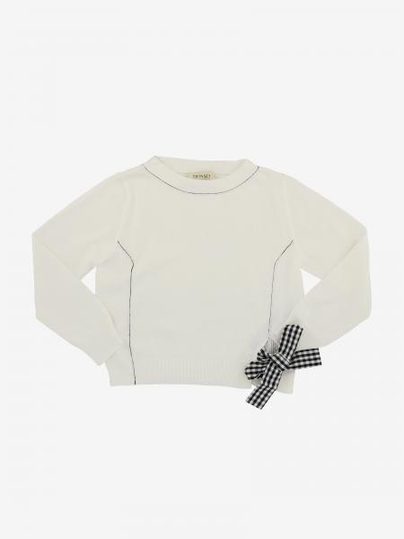 Twin-set sweater with Vichy bow