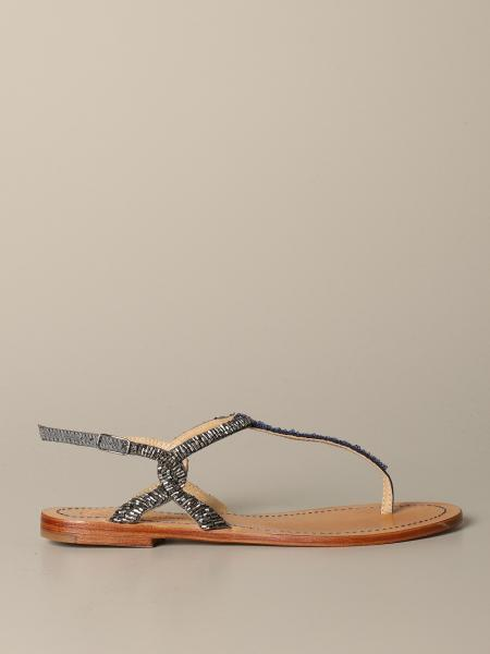 Maliparmi sandal with micro beads