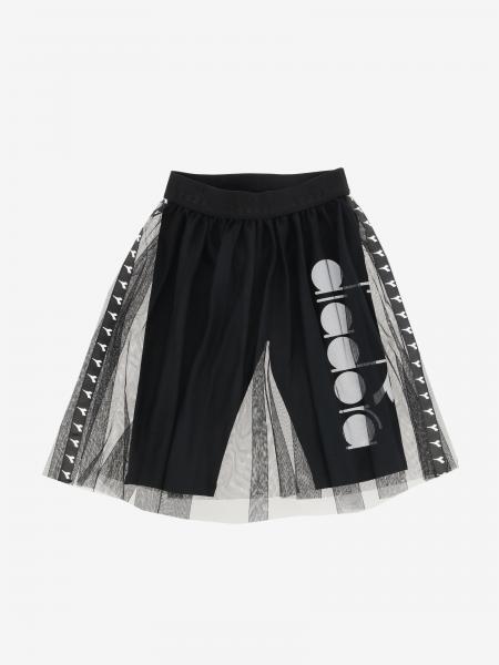 Gonna/ Pantalone Diadora con logo in tulle