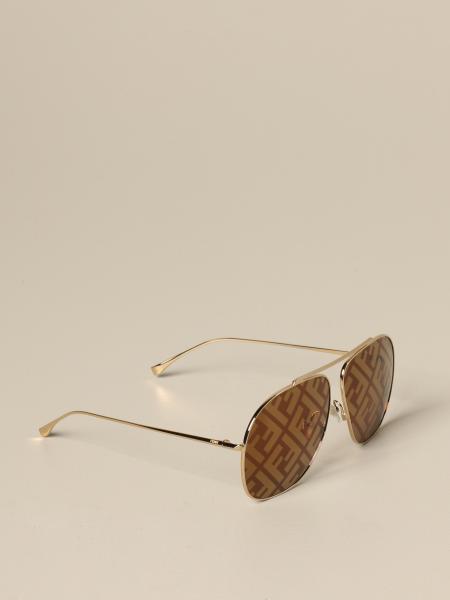 Fendi Brille mit FF Logo aus Acetat