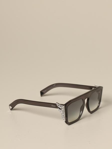Fendi Brille aus Acetat mit F aus Strasssteinen