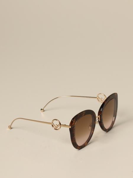 Fendi Brille aus Metal Acetat