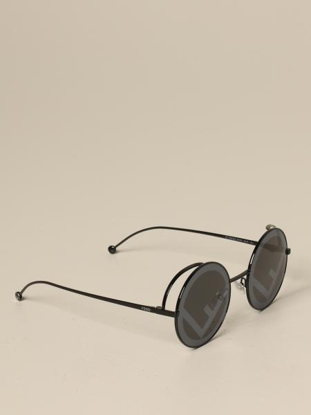 Fendi Metall Brille mit F Logo