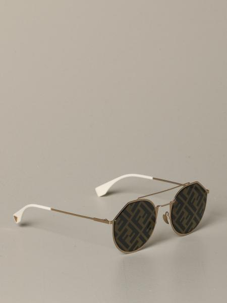 Fendi metal sunglasses with all-over FF monogram