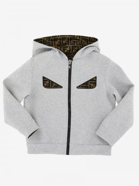 Fendi reversible sweatshirt with hood and zip
