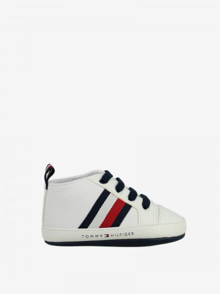Sneakers Tommy Hilfiger in pelle con banda a righe