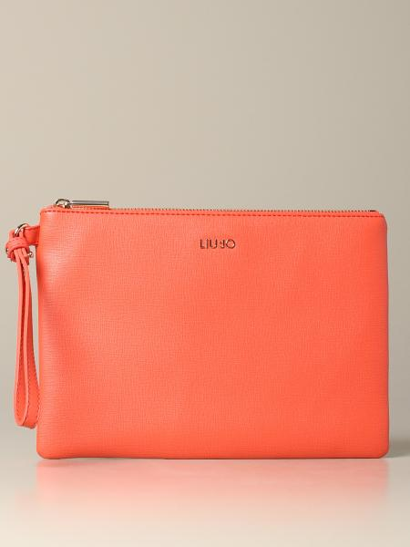 Liu Jo clutch bag in synthetic leather with logo