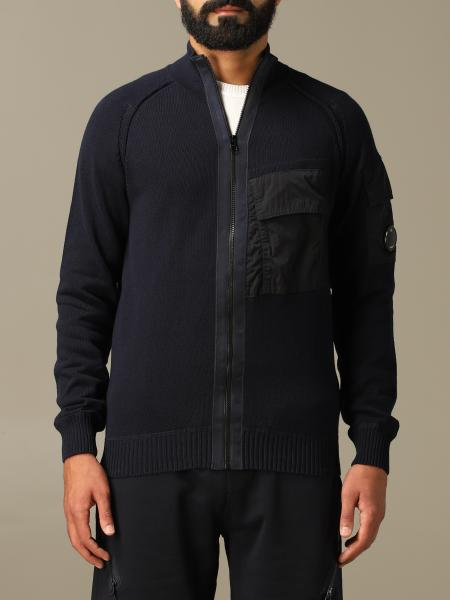 C.p. Company Cardigan with zip and logo