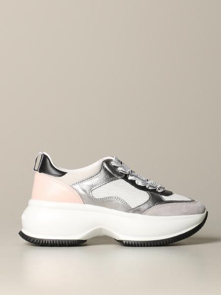 Hogan Maxi Active One 绒面皮和网眼运动鞋