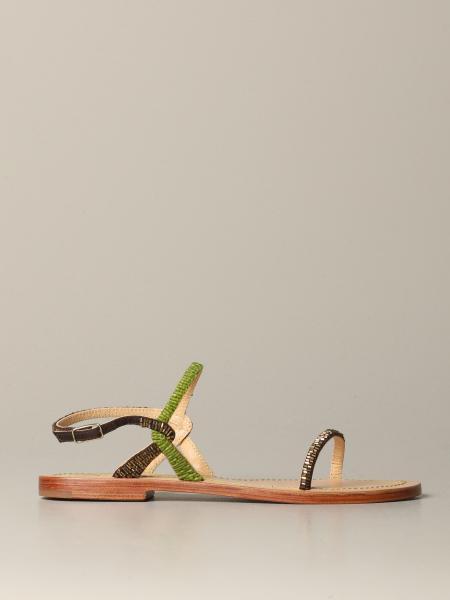 Босоножки без каблука Женское Maliparmi