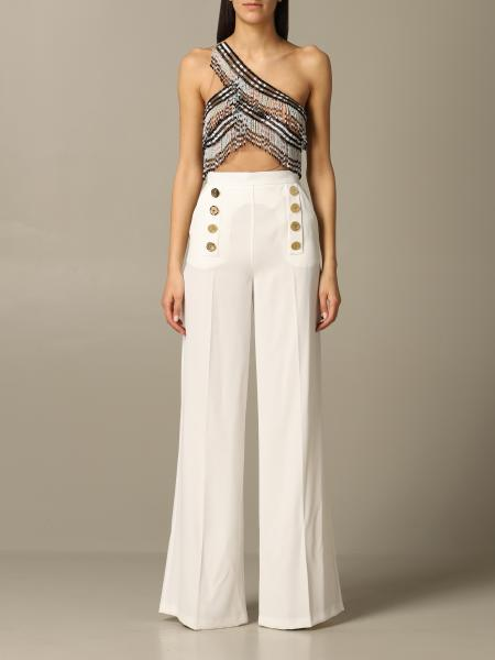 Elisabetta Franchi one-shoulder jumpsuit with micro beads