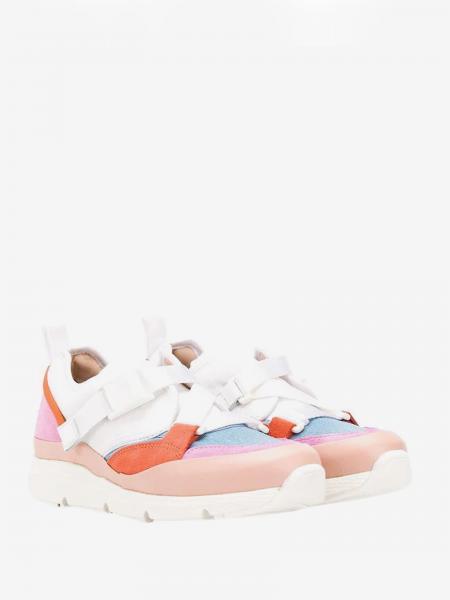 Sneakers Chloé in camoscio e pelle