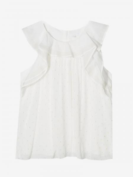 Chloé top with micro polka dots