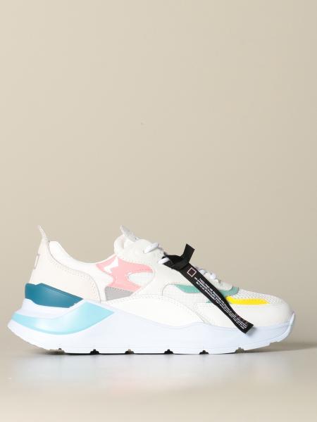 Sneakers D.A.T.E. in pelle micro rete e camoscio