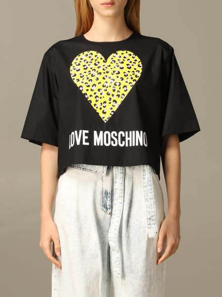 Love Moschino T-shirt with animal heart