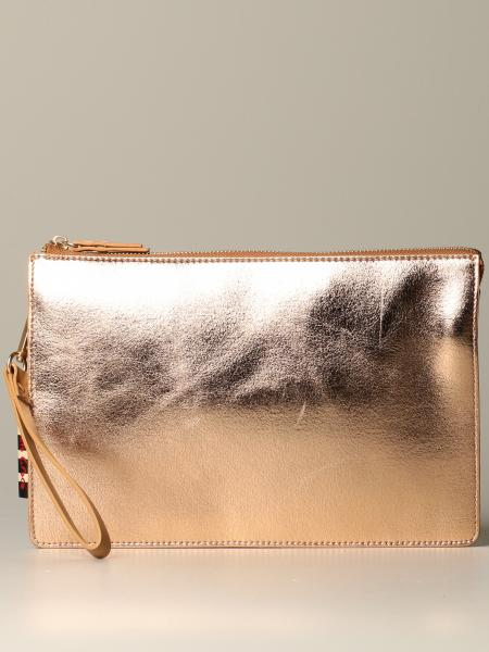 Manila Grace clutch in laminated leather