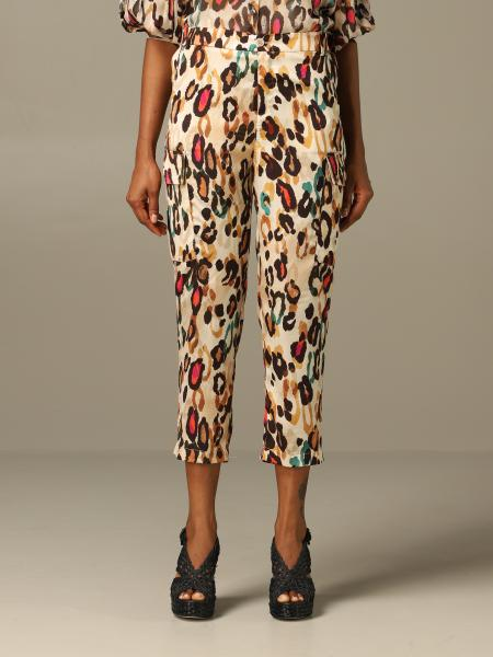 Liu Jo trousers in colored leopard print