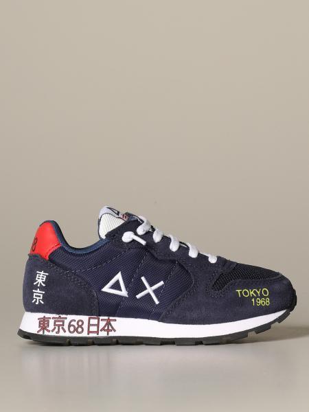 Sneakers Sun 68 in camoscio e tela