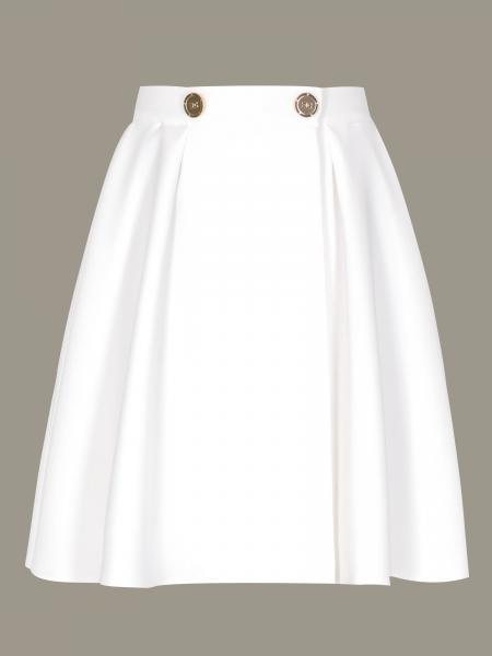 Elisabetta Franchi 金属扣大裙摆半身裙