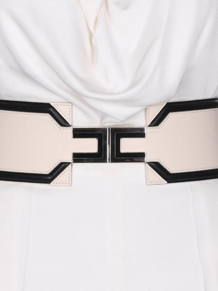 Cintura Elisabetta Franchi in pelle con logo