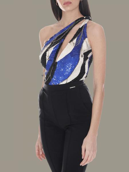 Elisabetta Franchi body with all-over sequins