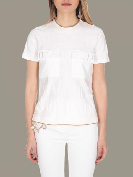 T-shirt Elisabetta Franchi con logo all over