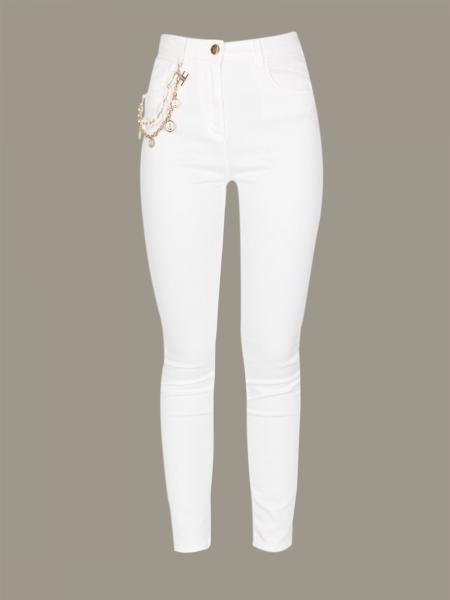 Elisabetta Franchi 珠宝链条牛仔裤