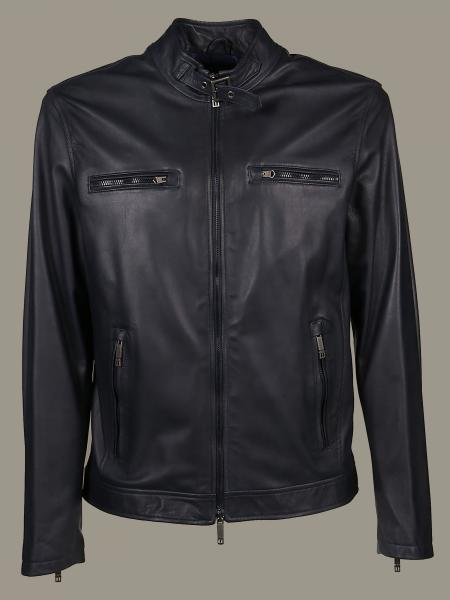 Etro leather jacket with zip