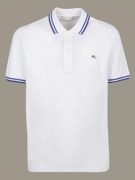 Etro short-sleeved polo shirt with logo