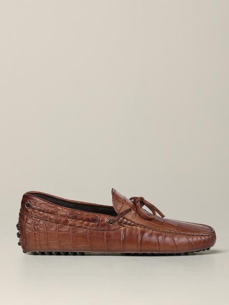 Mocassino Tod's in pelle stampa cocco