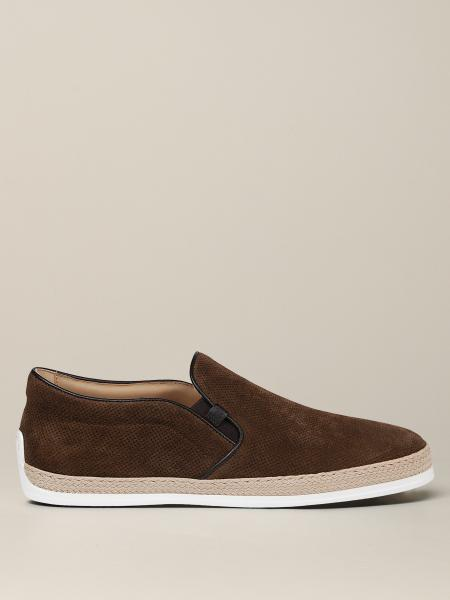 Tod's moccasin in micro speckled suede