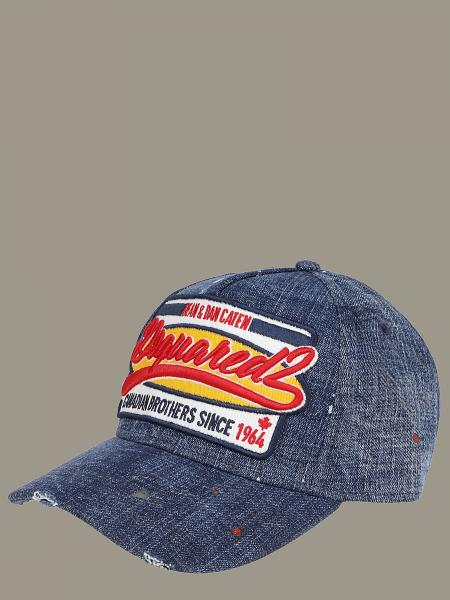 Cappello Dsquared2 in denim con logo