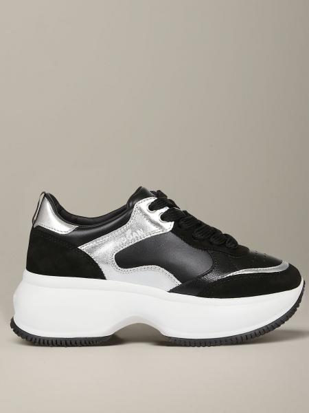 Hogan sneakers in smooth and laminated leather