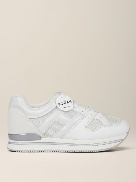 Hogan sneakers in pearl leather and mesh