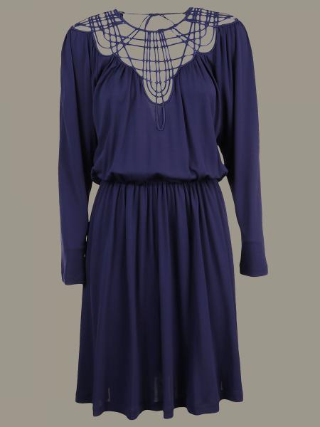 Alberta Ferretti dress with braided décolleté