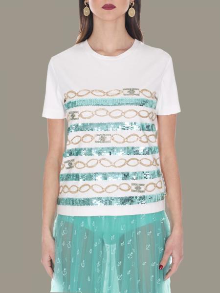 T-shirt Elisabetta Franchi con catene all over