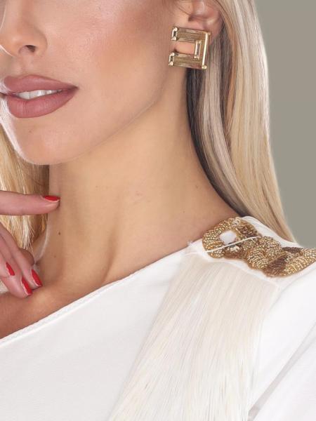 Elisabetta Franchi logo形状耳坠