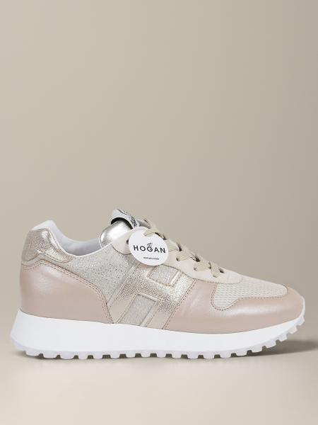 Hogan sneakers in leather and mesh