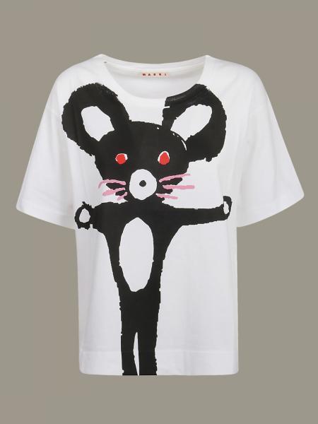 T-shirt Marni stampata con logo