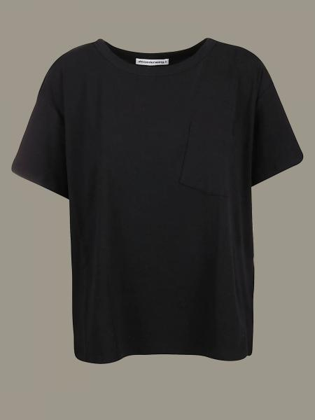 T-shirt Alexander Wang con tasca a toppa