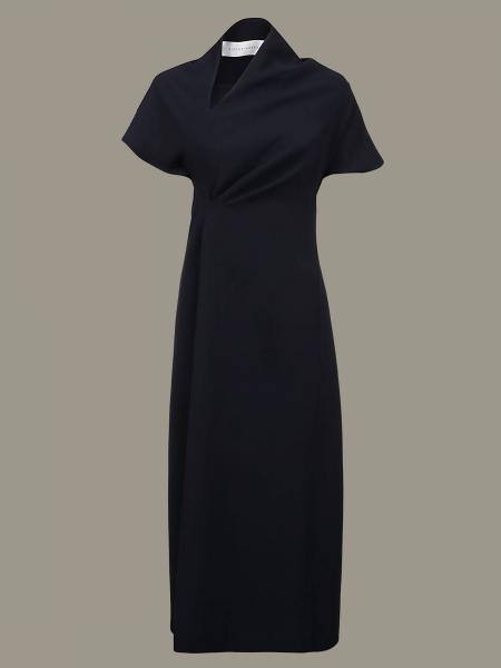 Victoria Victoria Beckham dress with asymmetrical neckline