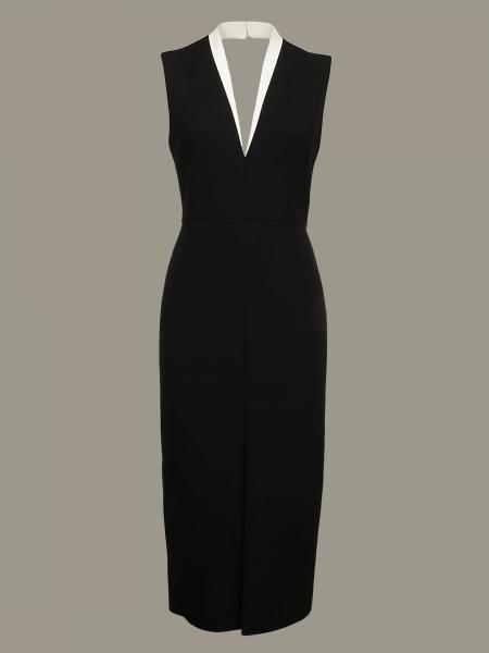 Victoria Victoria Beckham dress with contrasting neckline