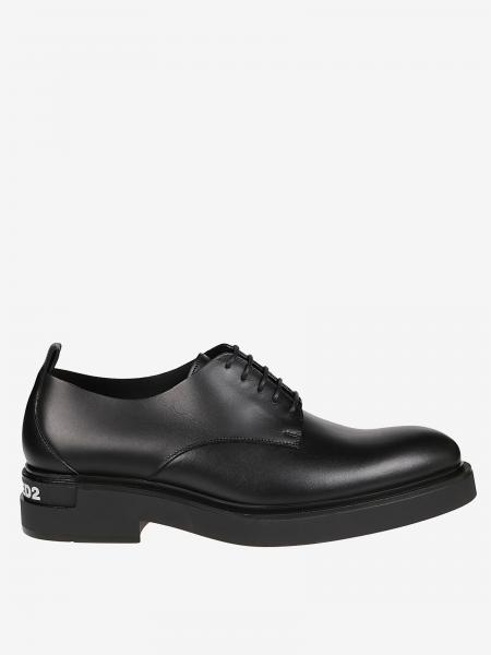 Dsquared2 derby in leather with rubber sole