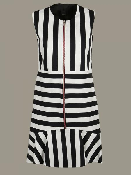 Pinko striped dress with zip