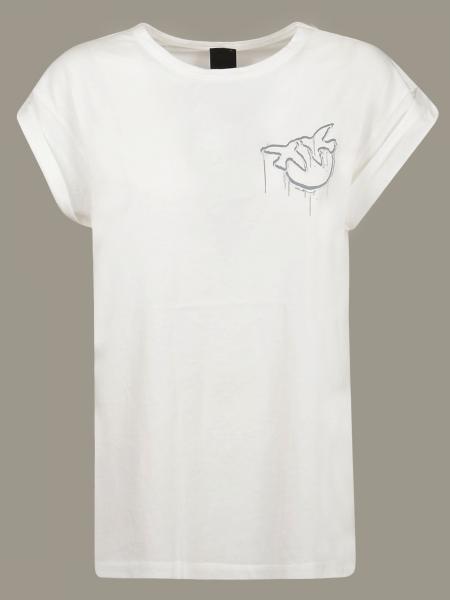 T-shirt Pinko con logo a contrasto