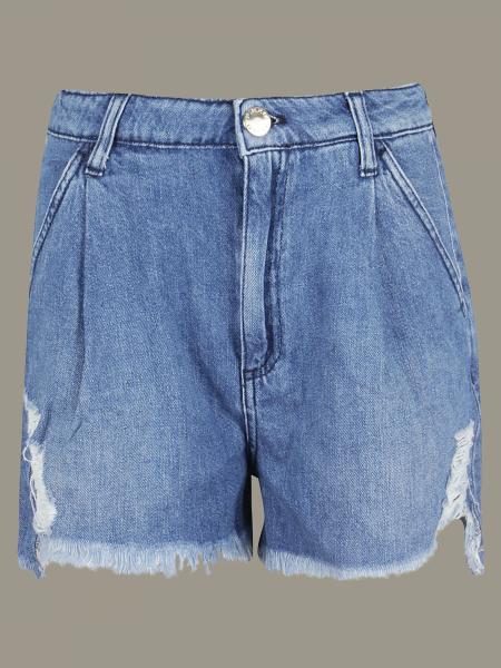 Pinko denim shorts with breaks