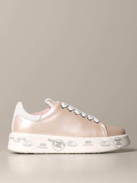 Belle Premiata sneakers in pearl and smooth leather