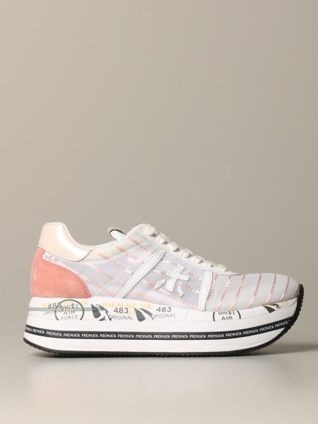Beth Premiata sneakers in sheer canvas and suede