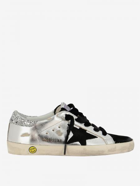 Golden Goose sneakers in laminated leather with suede star
